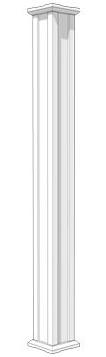 pergola column acadian style